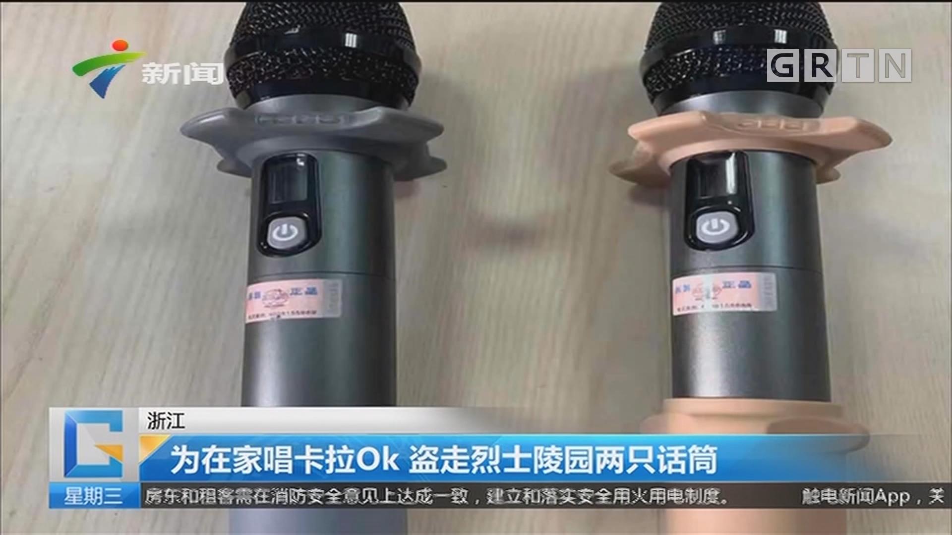 浙江:为在家唱卡拉OK 盗走烈士陵园两只话筒