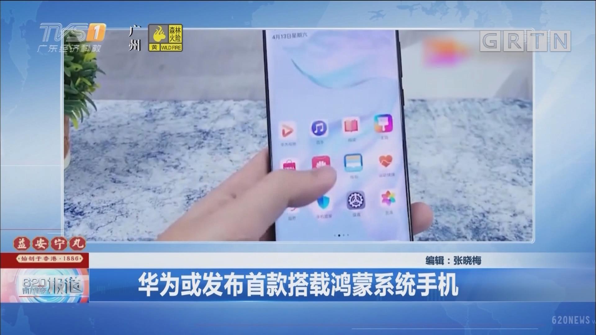 华为或发布首款搭载鸿蒙系统手机