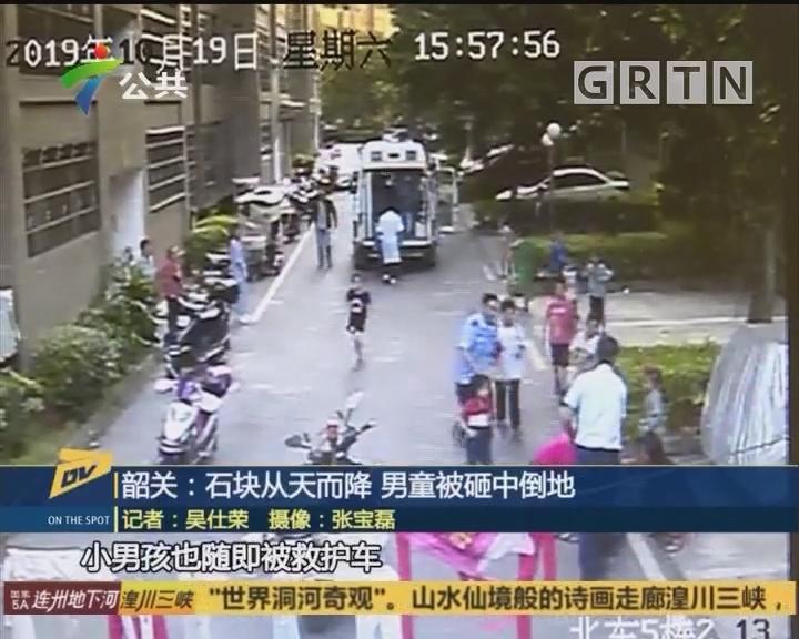 (DV现场)韶关:石块从天而降 男童被砸中倒地
