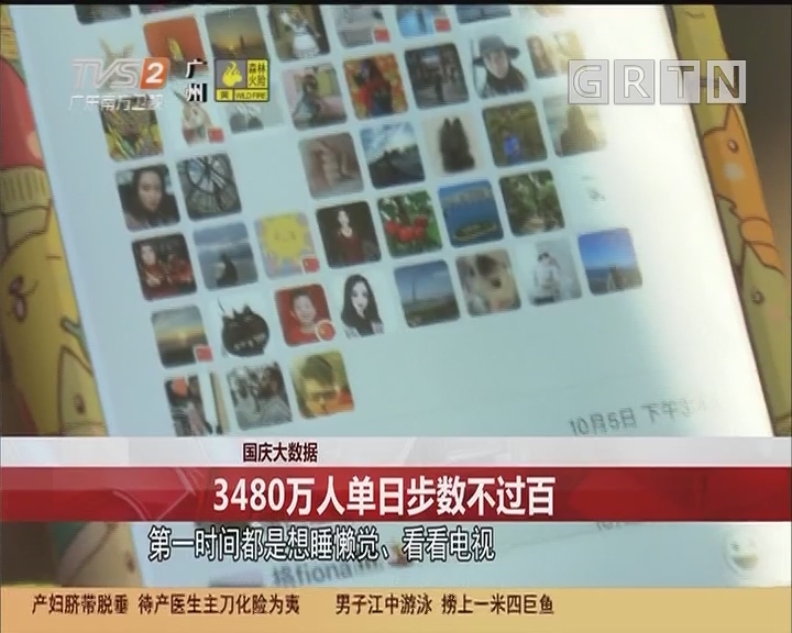 國慶大數據 3480萬人單日步數不過百