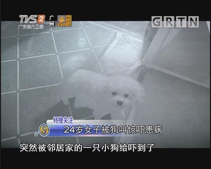 24岁女子被狗叫惊吓患病