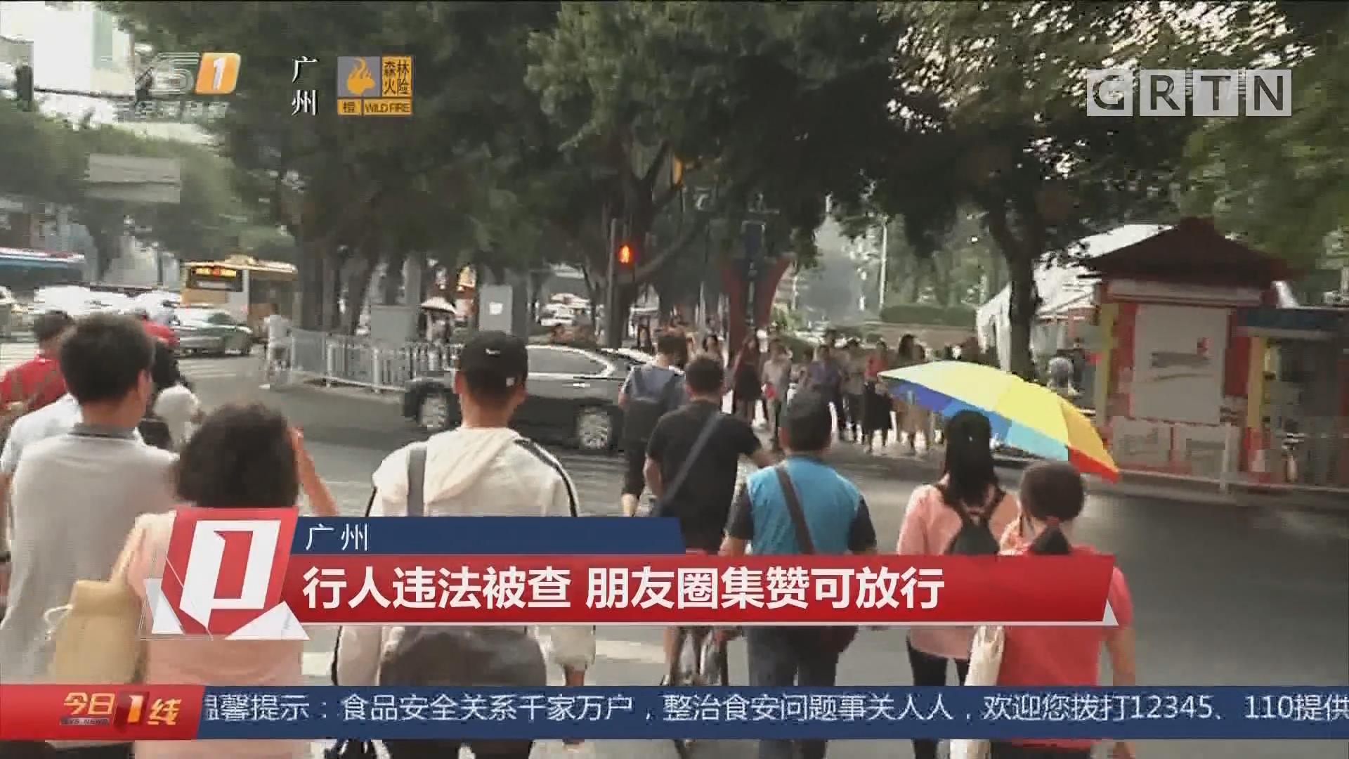 广州:行人违法被查 朋友圈集赞可放行