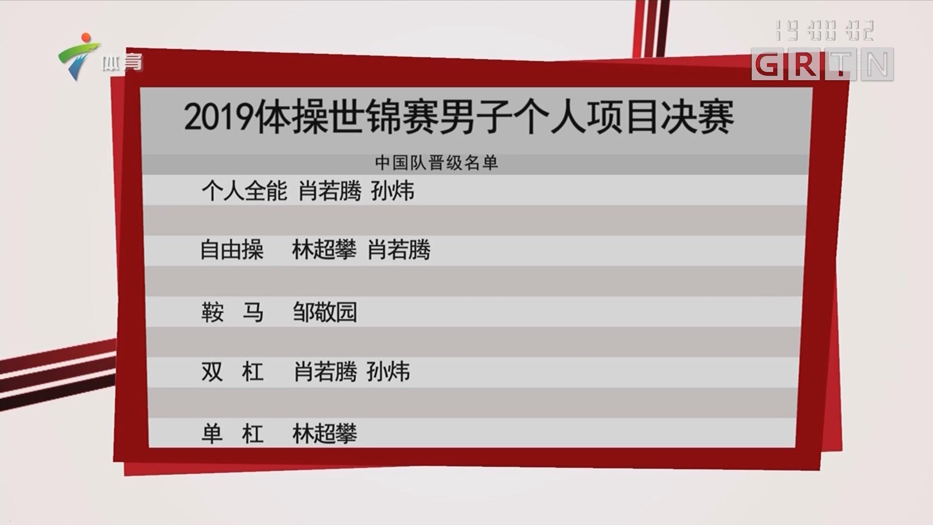 2019体操世锦赛男子个人项目决赛
