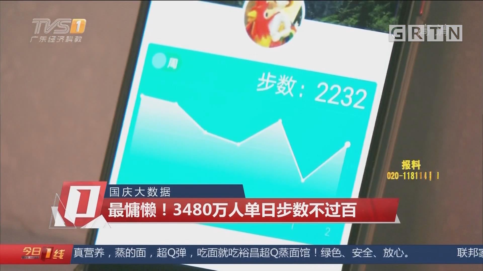 国庆大数据:最慵懒!3480万人单日步数不过百