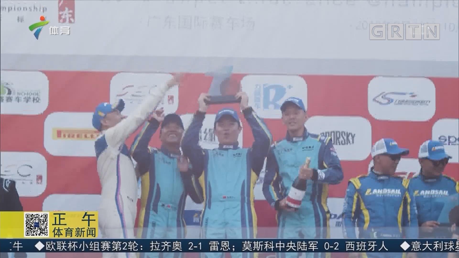 發揮完美 廣東體育頻道車隊奪6小時耐力賽全場第二