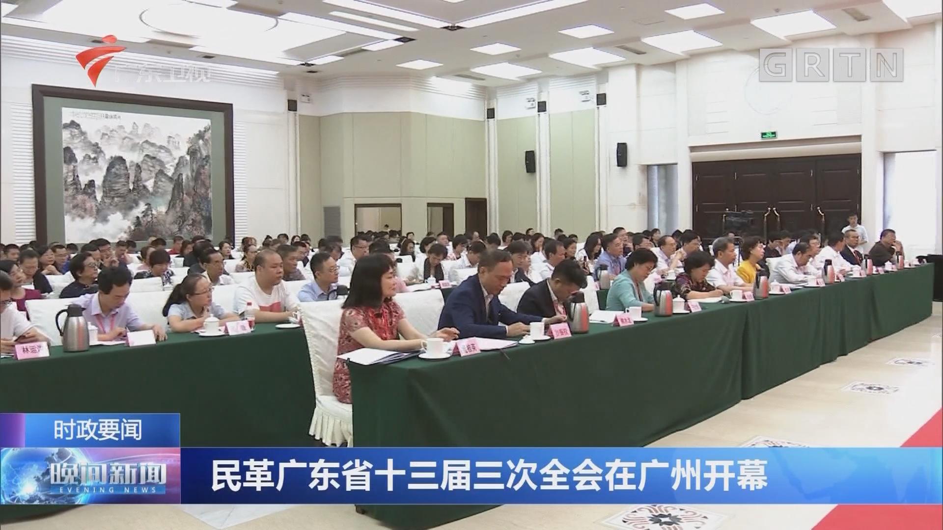 民革广东省十三届三次全会在广州开幕