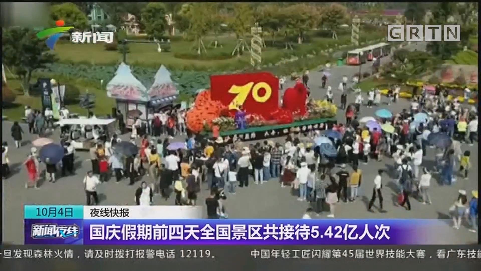 国庆假期前四天全国景区共接待5.42亿人次
