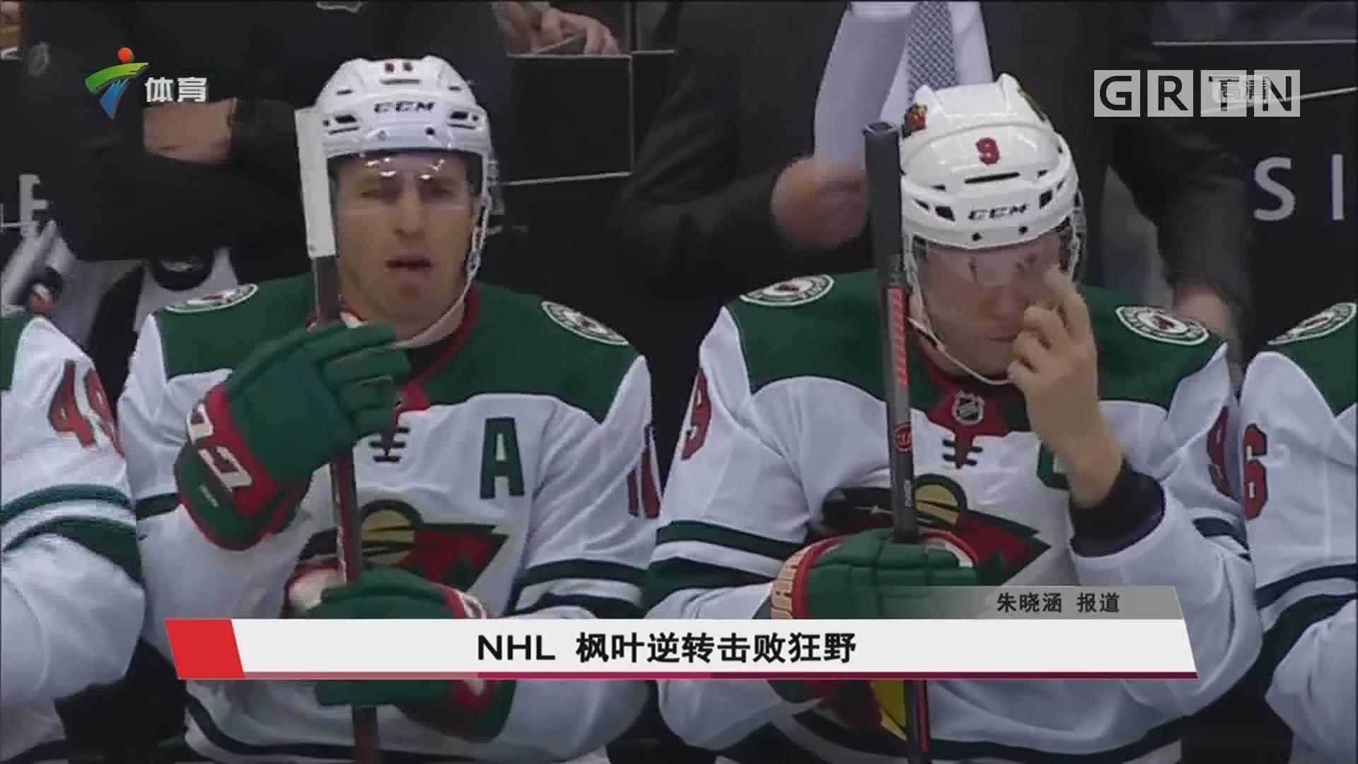 NHL 枫叶逆转击败狂野
