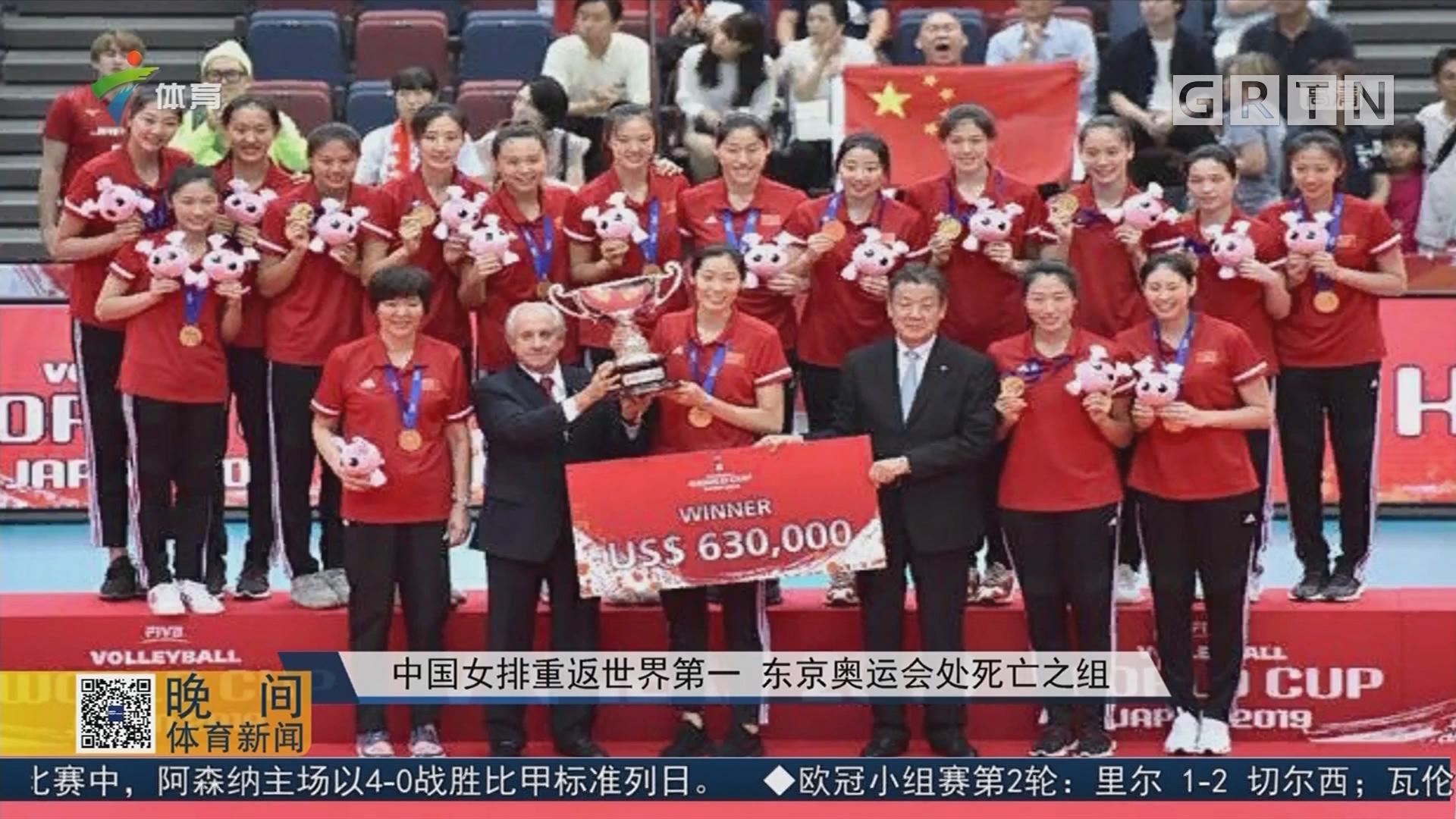 中國女排重返世界第一 東京奧運會處死亡之組