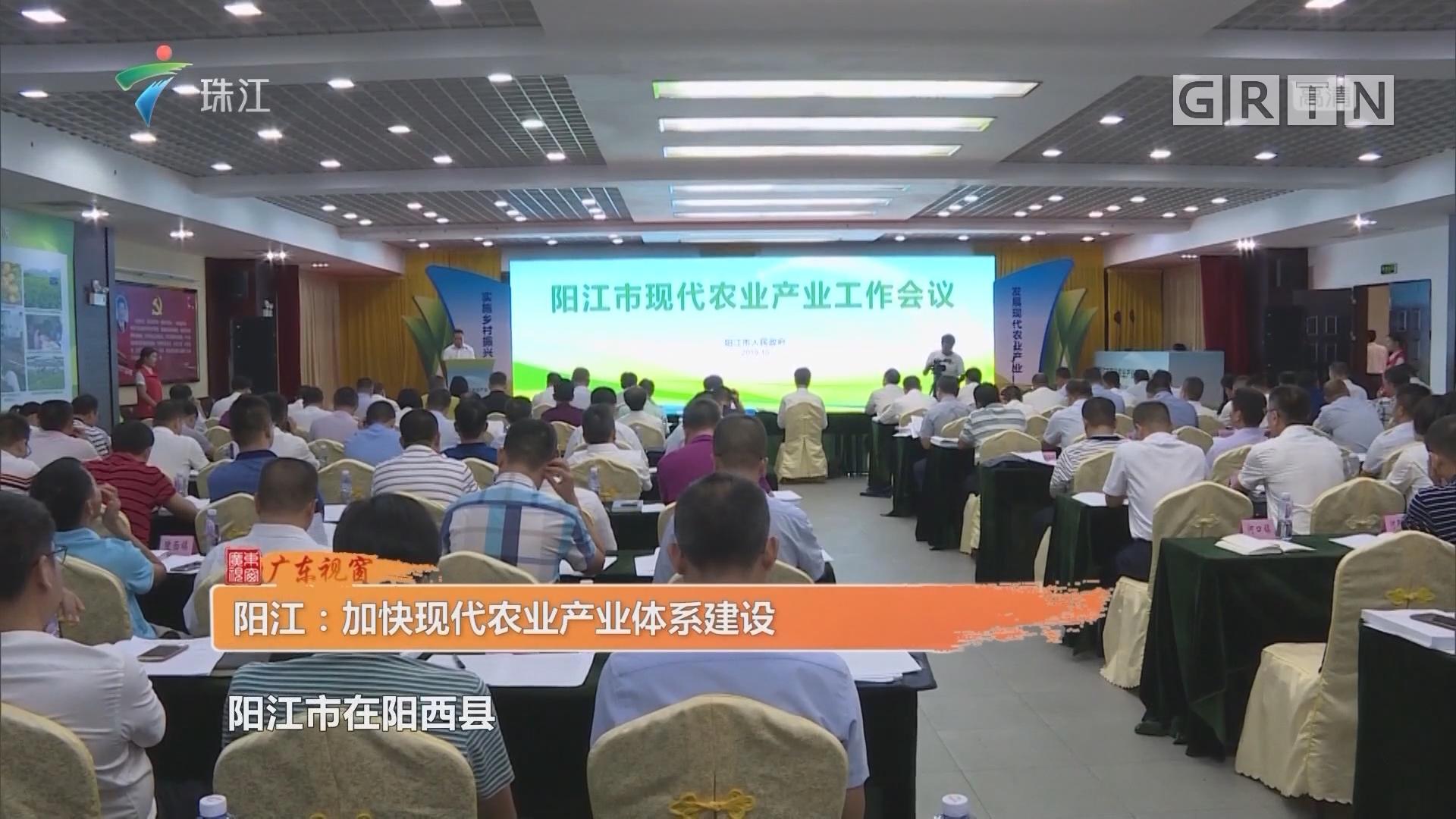 阳江:加快现代农业产业体系建设