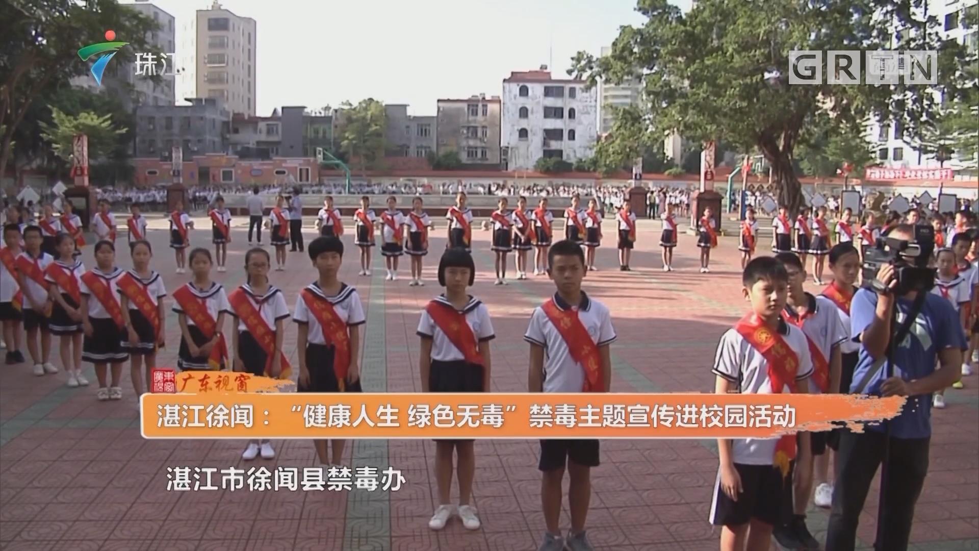 """湛江徐闻:""""健康人生 绿色无毒""""禁毒主题宣传进校园活动"""