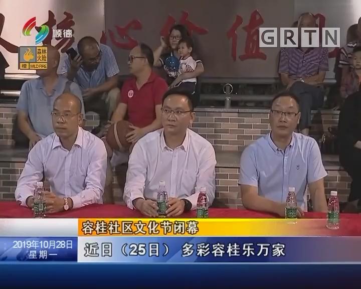 容桂社区文化节闭幕