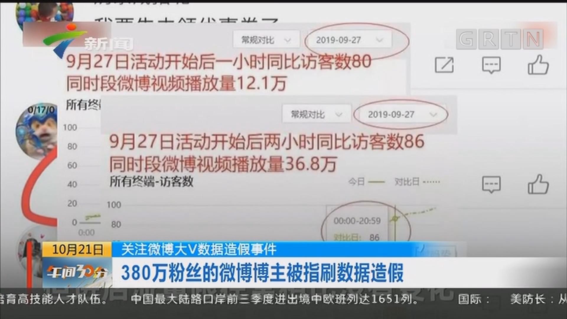 关注微博大V数据造假事件:380万粉丝的微博博主被指刷数据造假