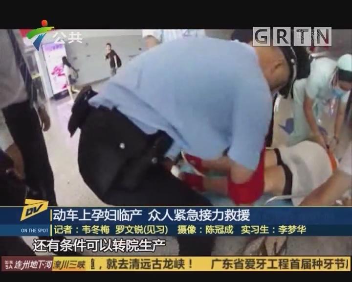 (DV现场)动车上孕妇临产 众人紧急接力救援