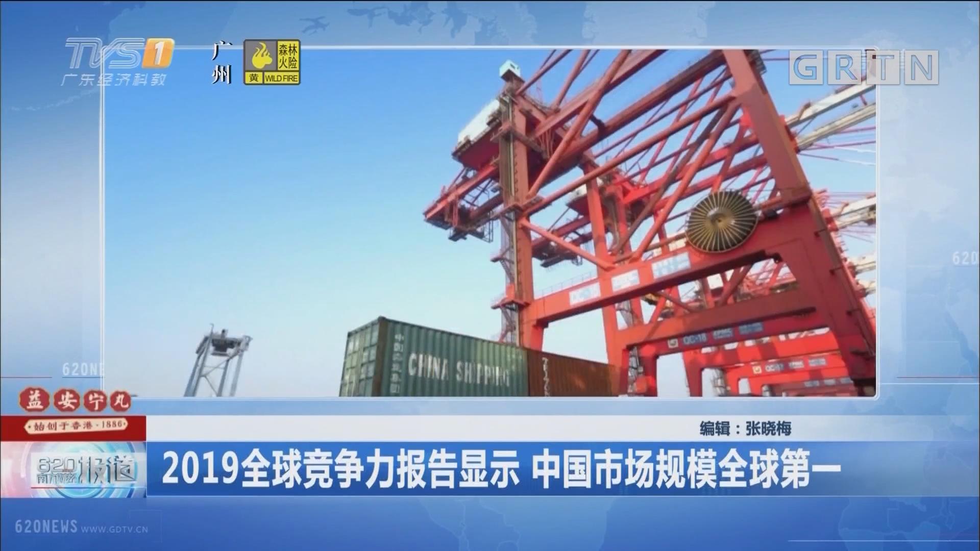 2019全球竞争力报告显示 中国市场规模全球第一