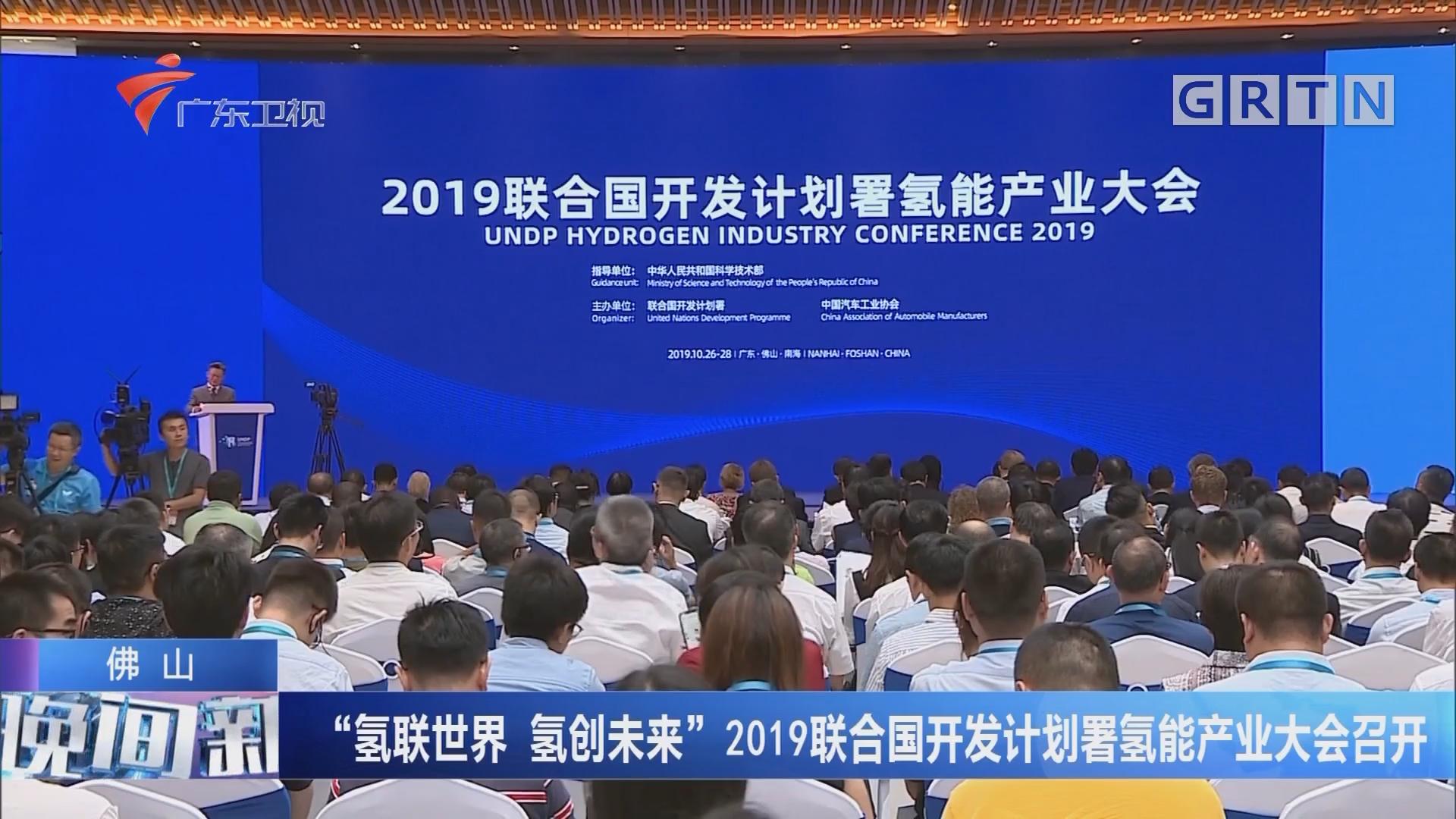 """佛山 """"氢联世界 氢创未来""""2019联合国开发计划署氢能产业大会召开"""
