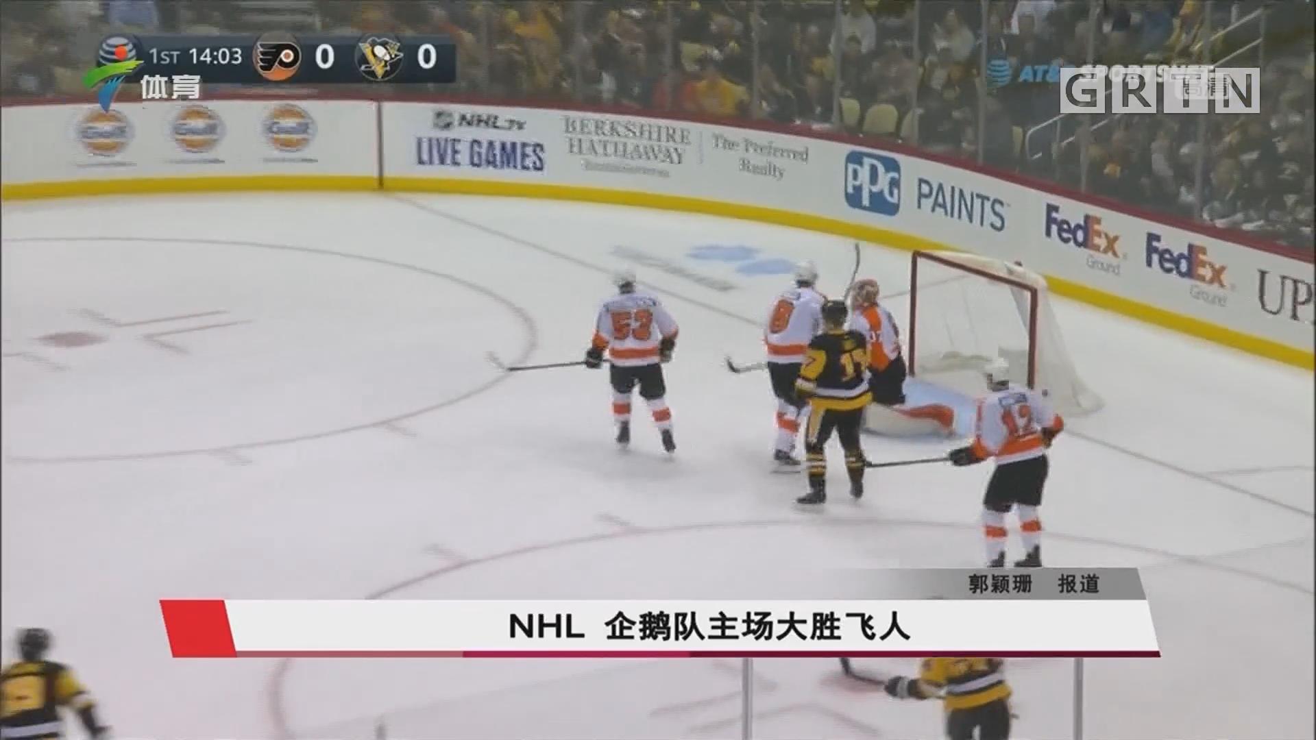NHL 企鹅队主场大胜飞人