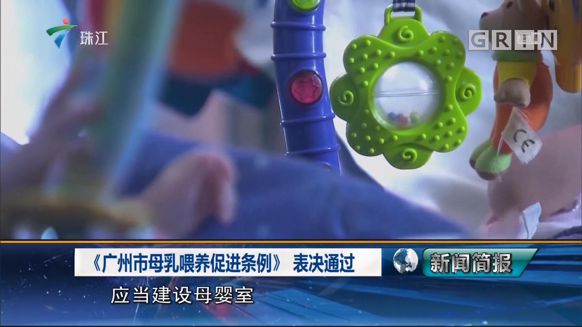 《广州市母乳喂养促进条例》 表决通过