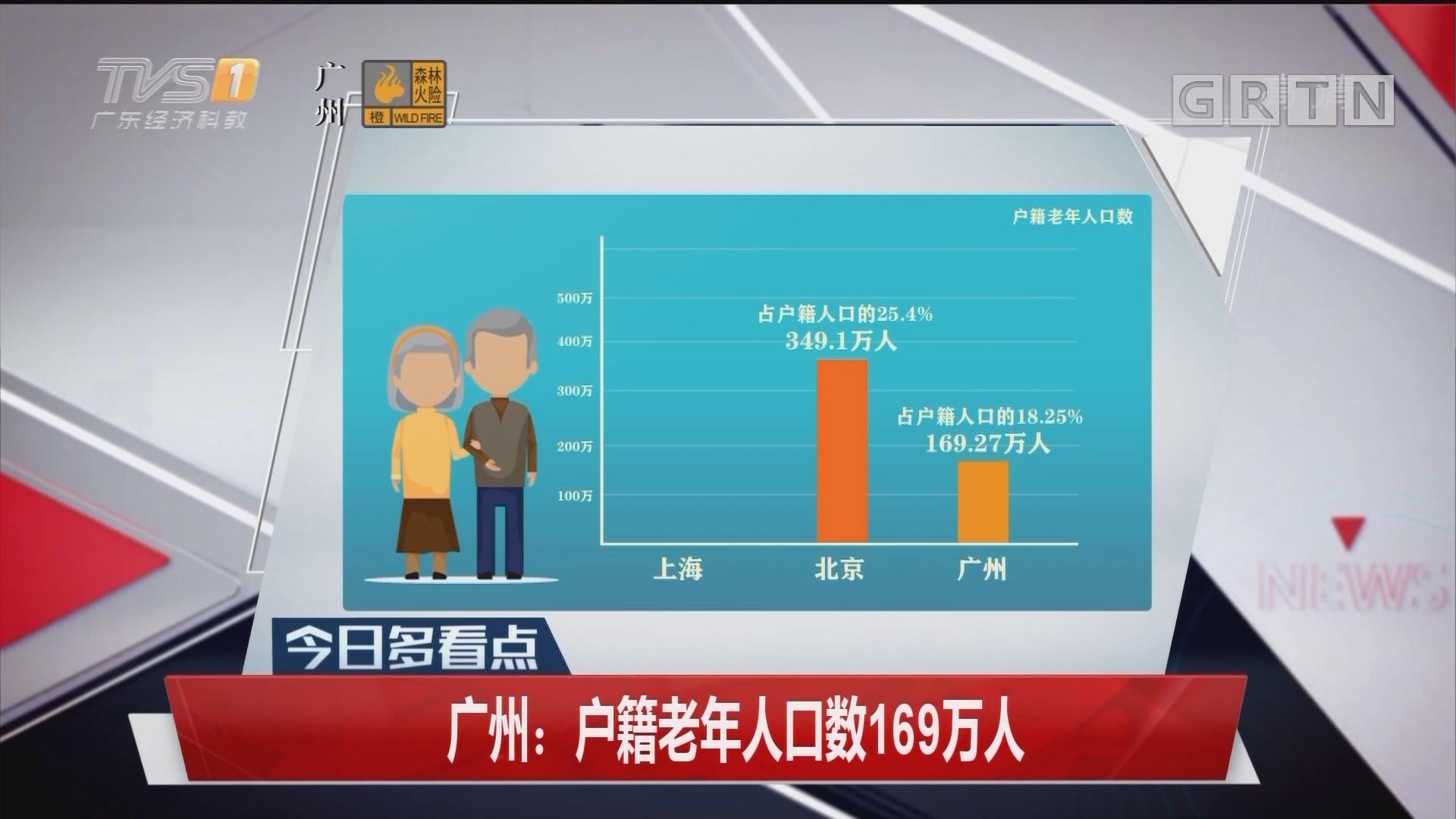 广州:户籍老年人口数169万人