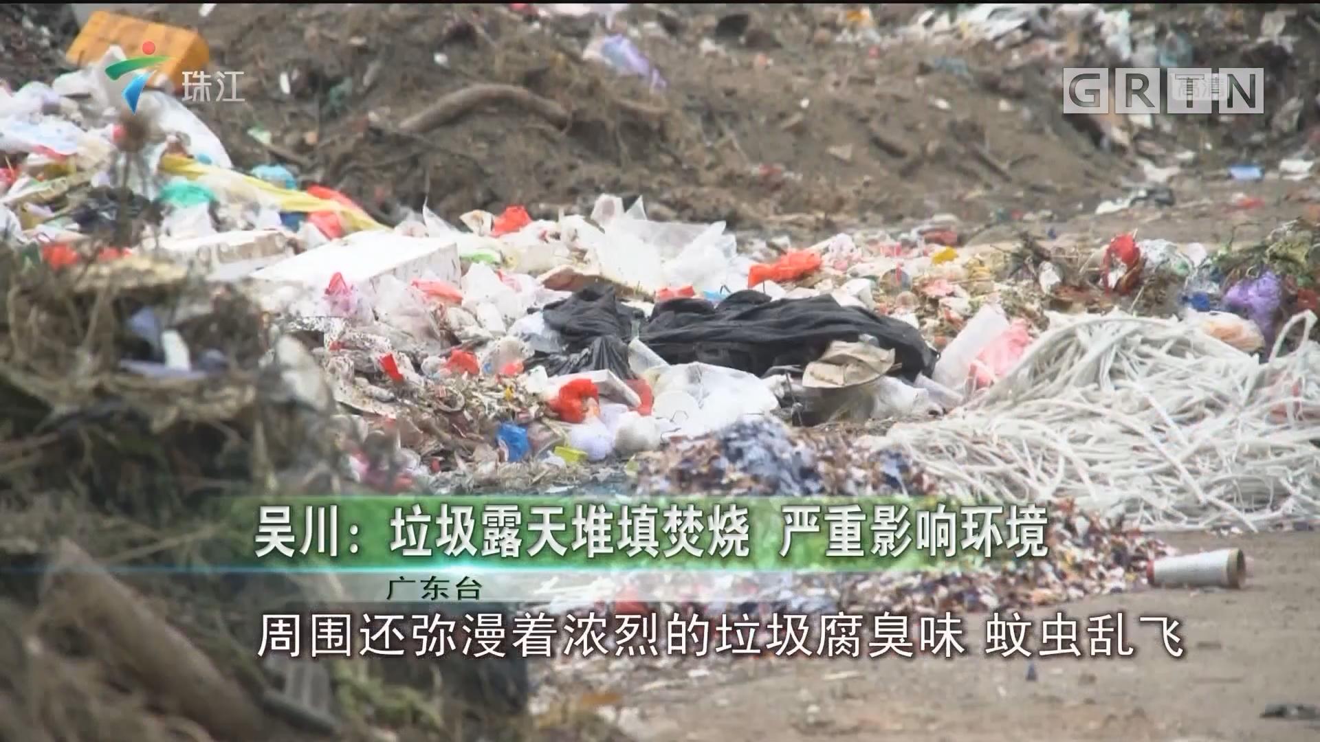吴川:垃圾露天堆填焚烧 严重影响环境