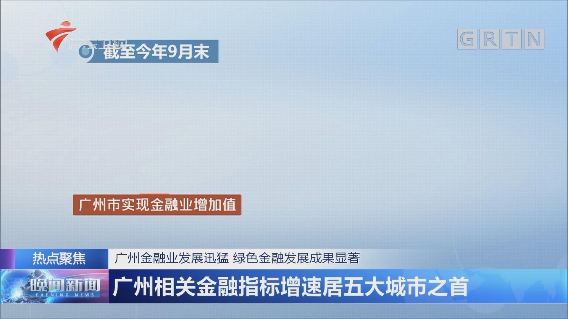 广州金融业发展迅猛 绿色金融发展成果显著 广州相关金融指标增速居五大城市之首