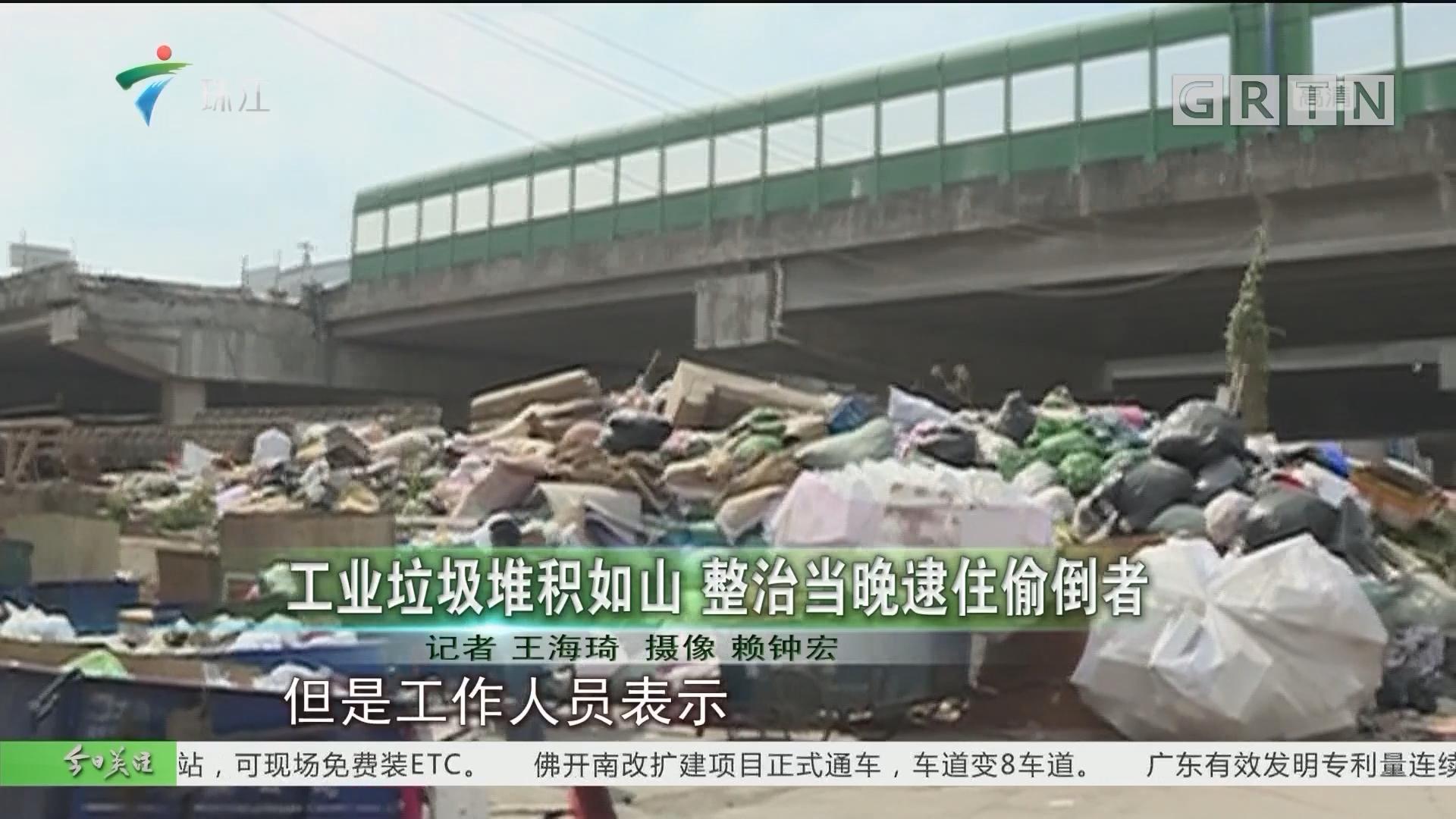 工业垃圾堆积如山 整治当晚逮住偷倒者