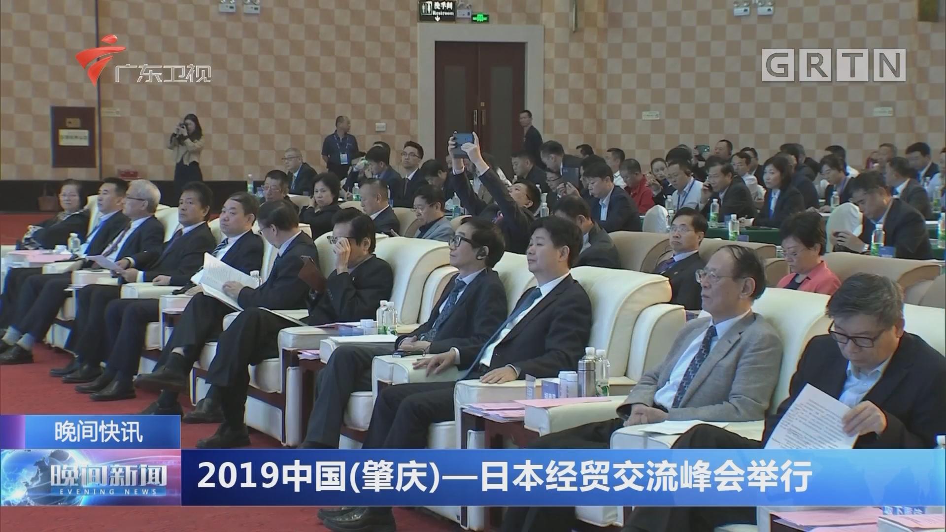 2019中国(肇庆)—日本经贸交流峰会举行