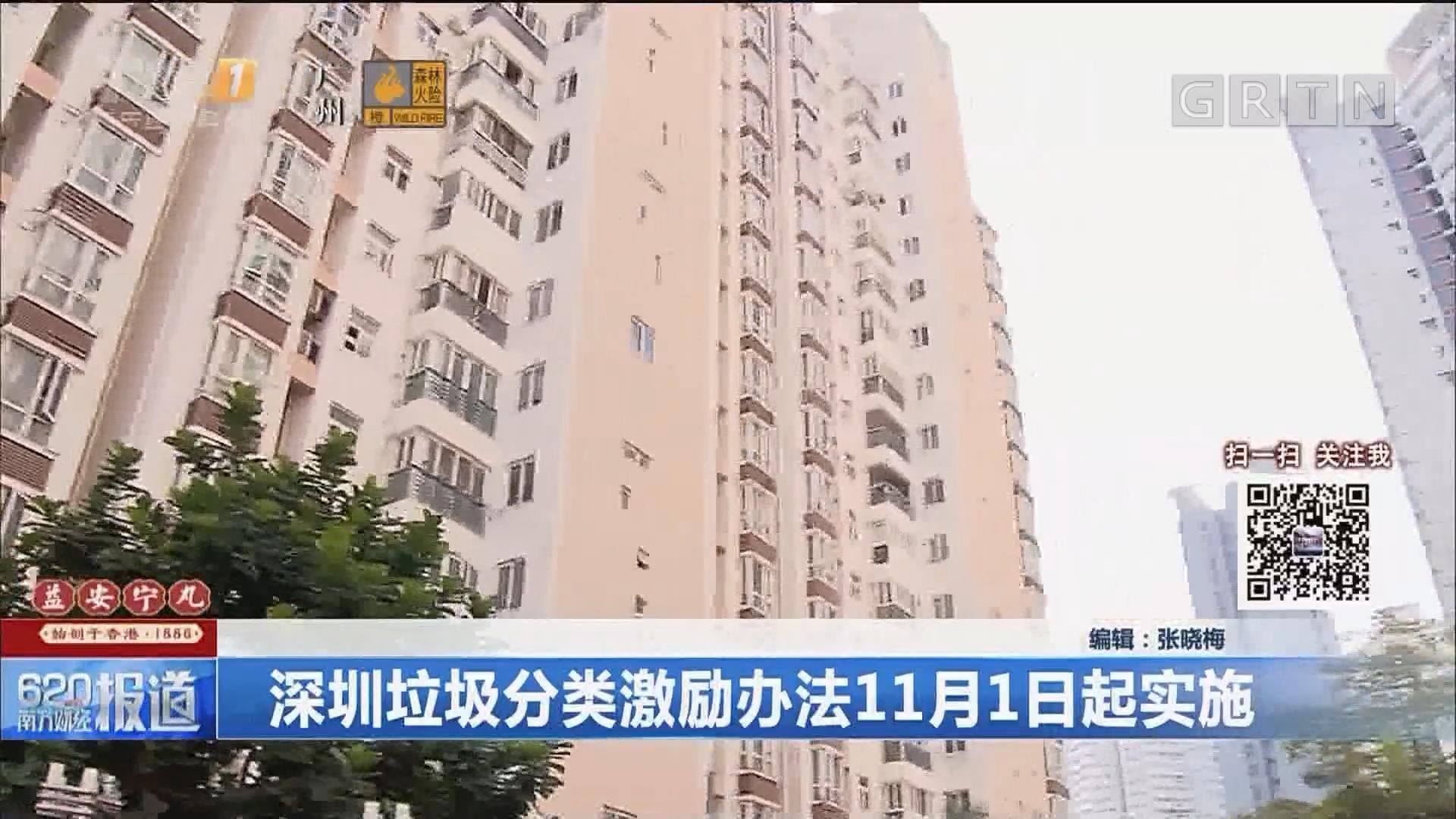深圳垃圾分类激励办法11月1日起实施
