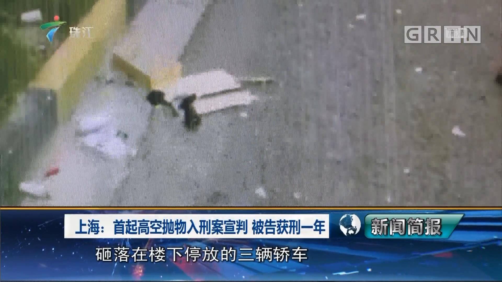 上海:首起高空抛物入刑案宣判 被告获刑一年