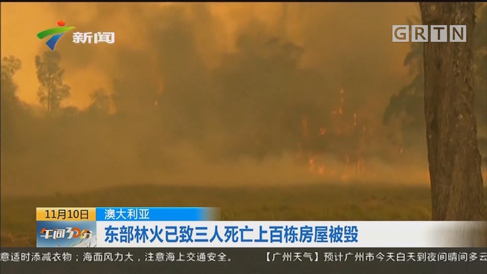 澳大利亚:东部林火已致三人死亡上百栋房屋被毁