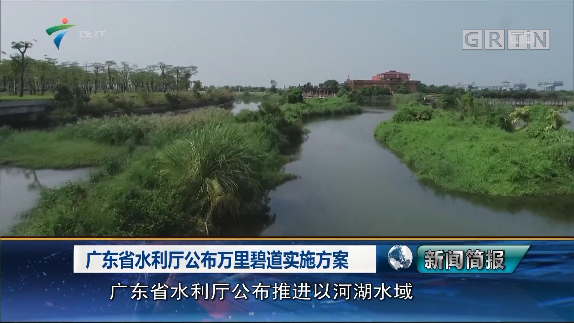 广东省水利厅公布万里碧道实施方案