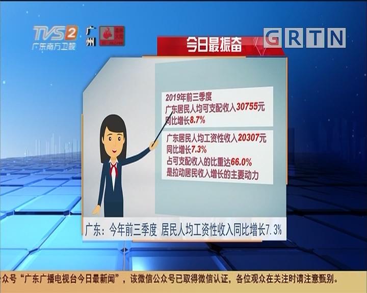 今日最振奋:广东:今年前三季度 居民人均工资性收入同比增长7.3%