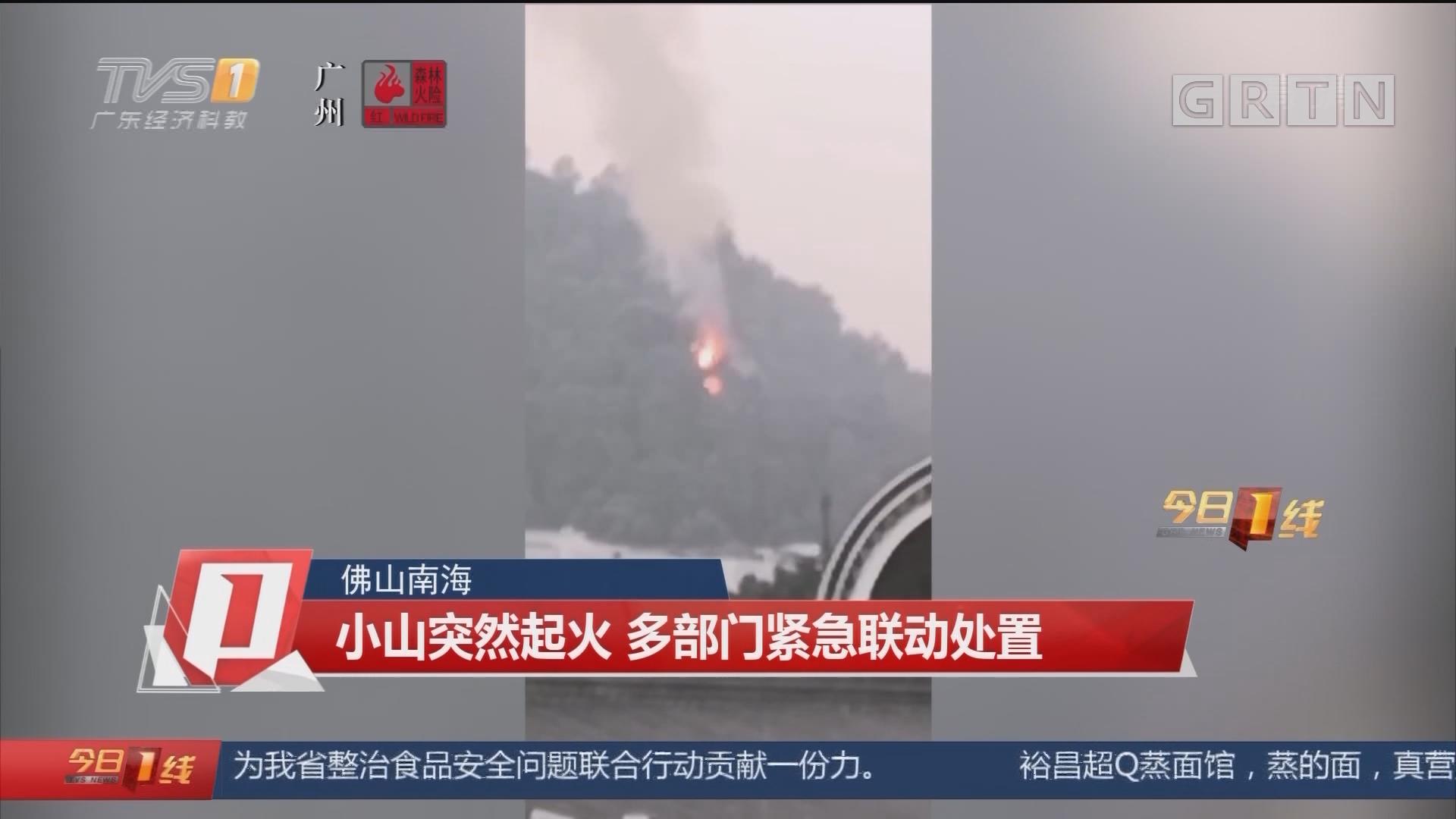 佛山南海:小山突然起火 多部门紧急联动处置