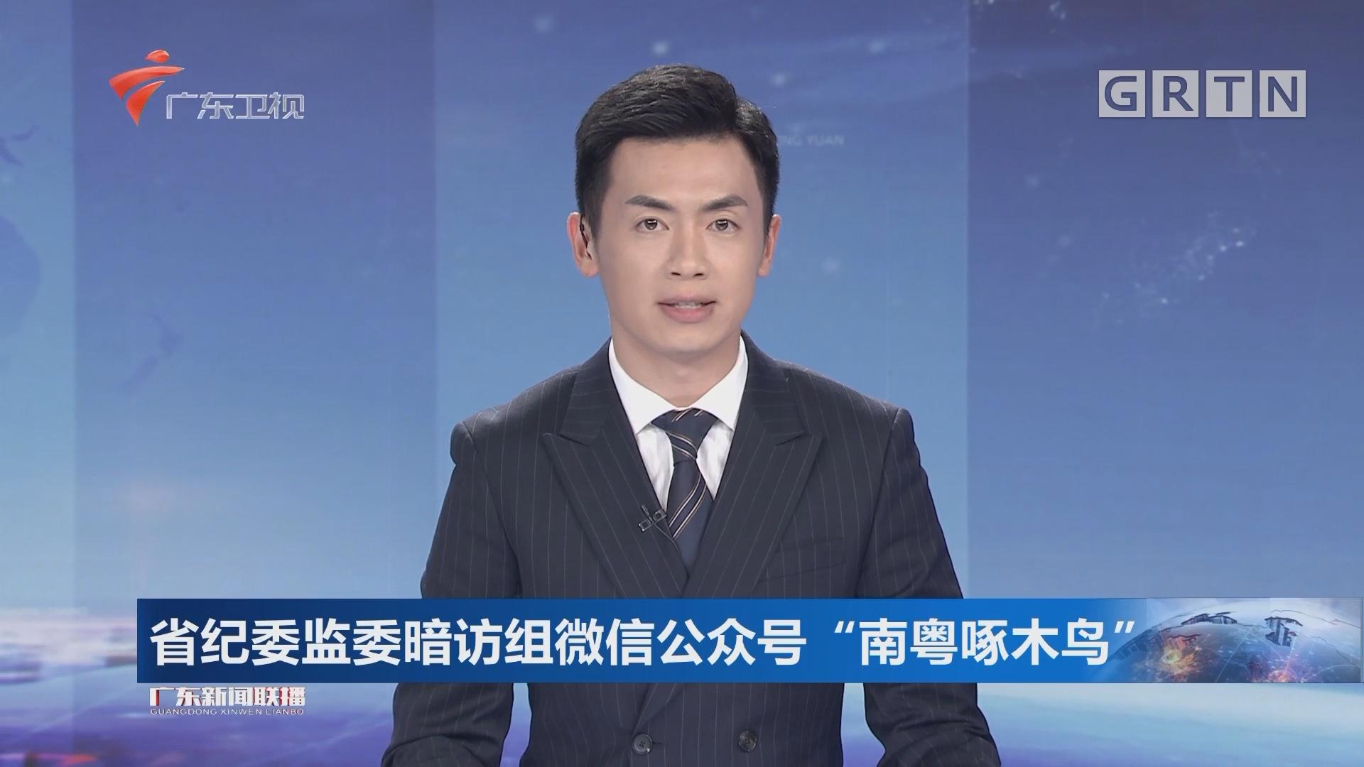"""省纪委监委暗访组微信公众号""""南粤啄木鸟"""""""