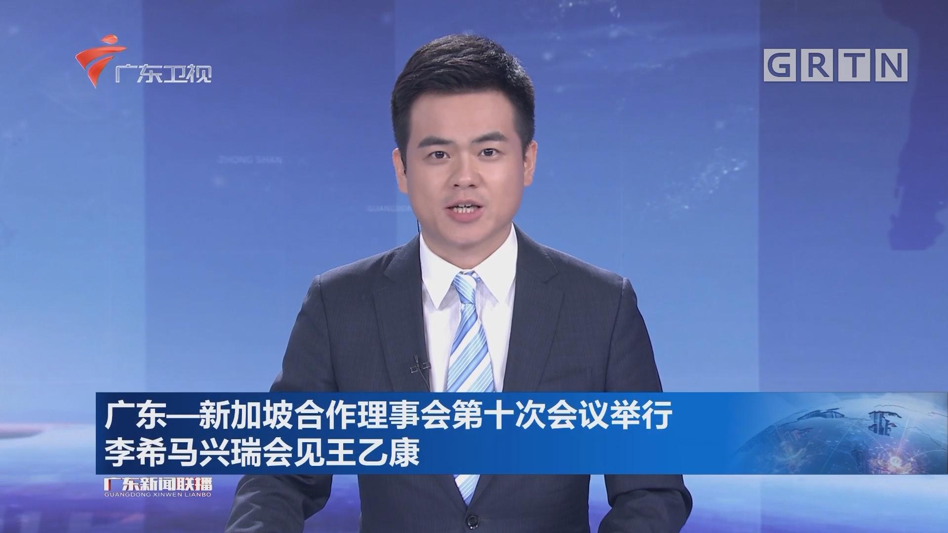 广东-新加坡合作理事会第十次会议举行 李希马兴瑞会见王乙康