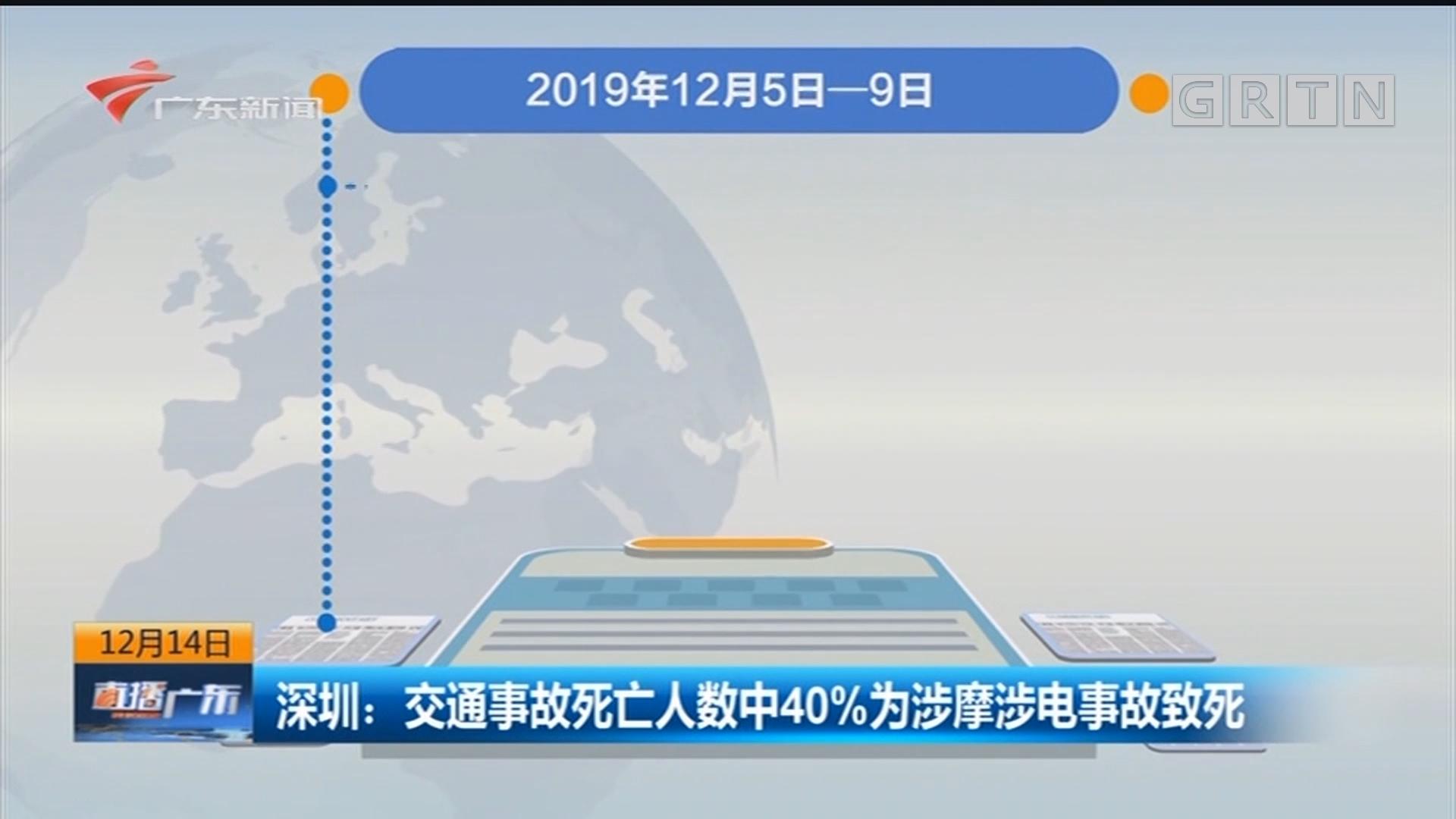 深圳:交通事故死亡人数中40%为涉摩涉电事故致死