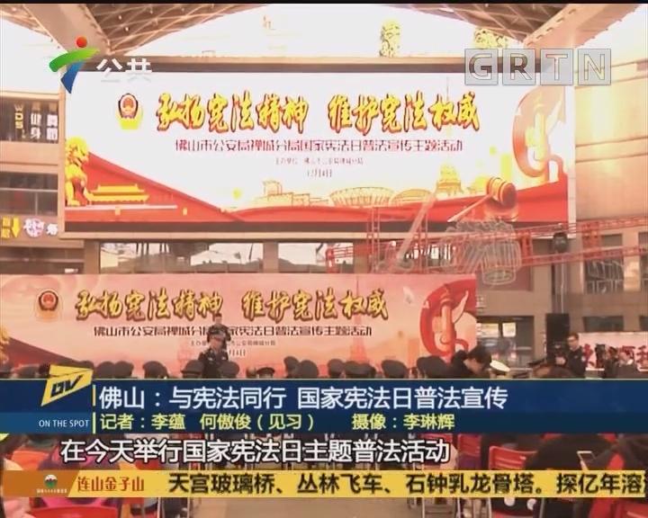 (DV现场)佛山:与宪法同行 国家宪法日普法宣传