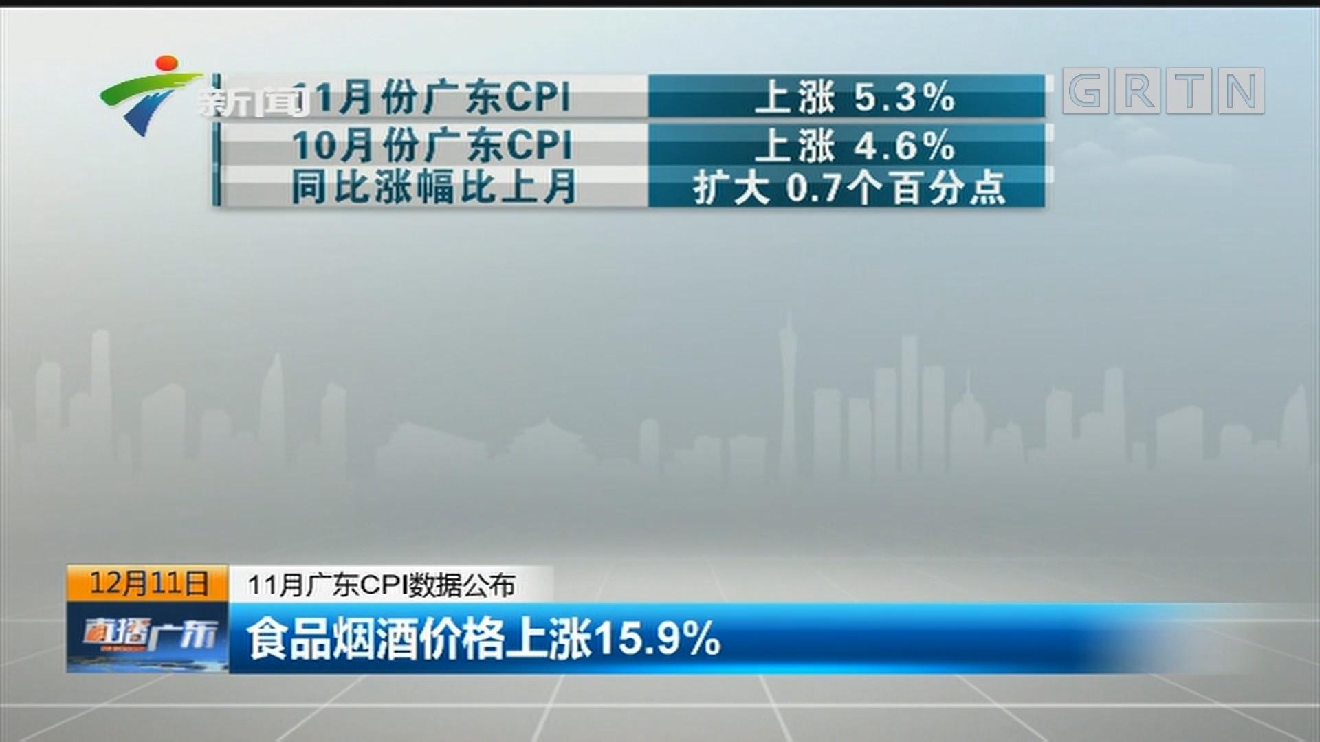 11月广东CPI数据公布:食品烟酒价格上涨15.9%