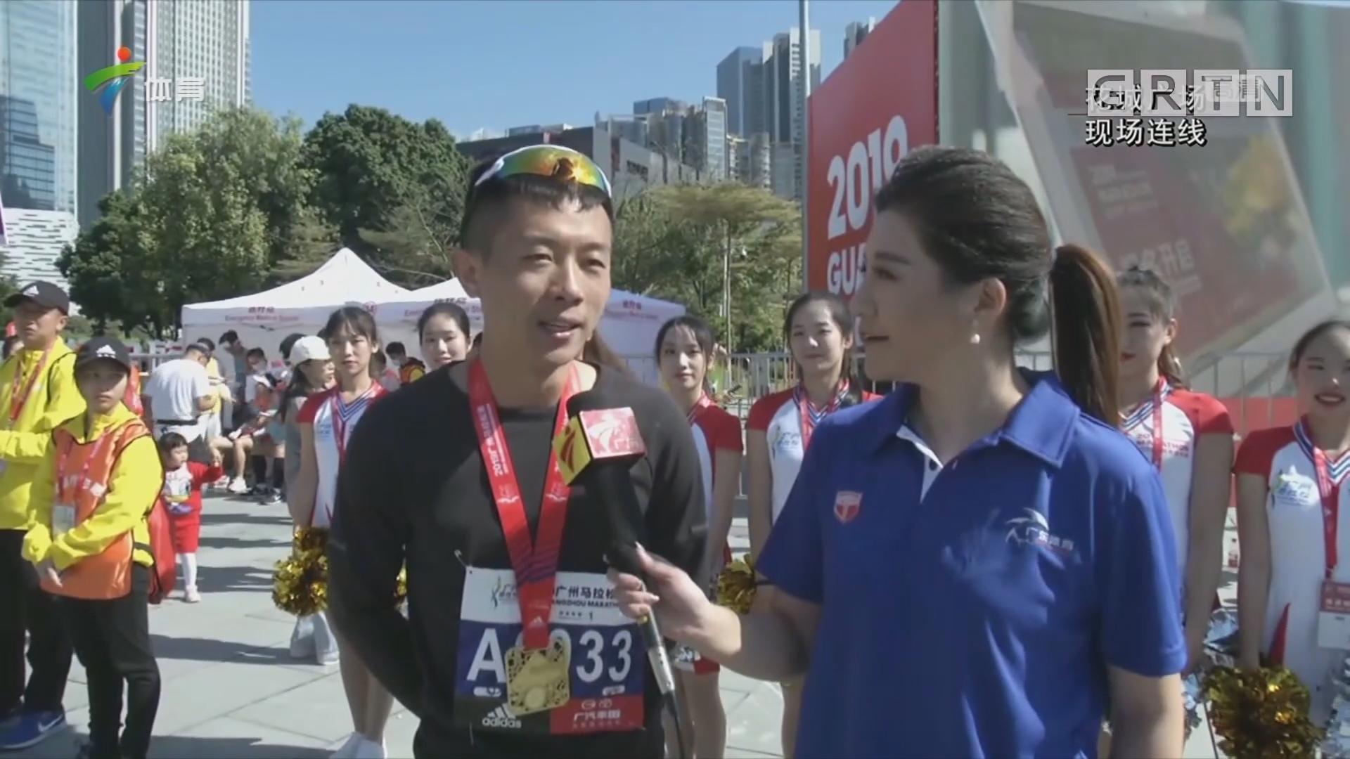 现场连线:2019广州国际马拉松正式鸣枪开跑