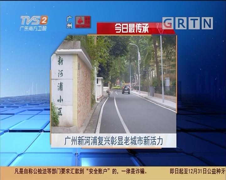 今日最传承 广州新河浦复兴彰显老城市新活力