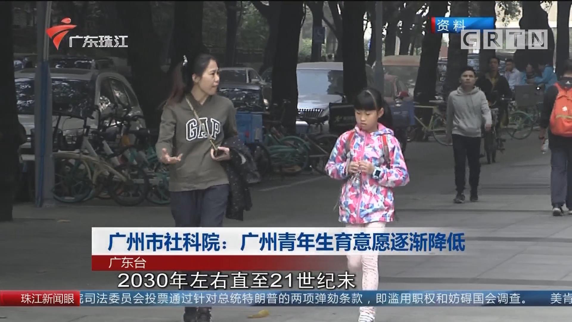 广州市社科院:广州青年生育意愿逐渐降低