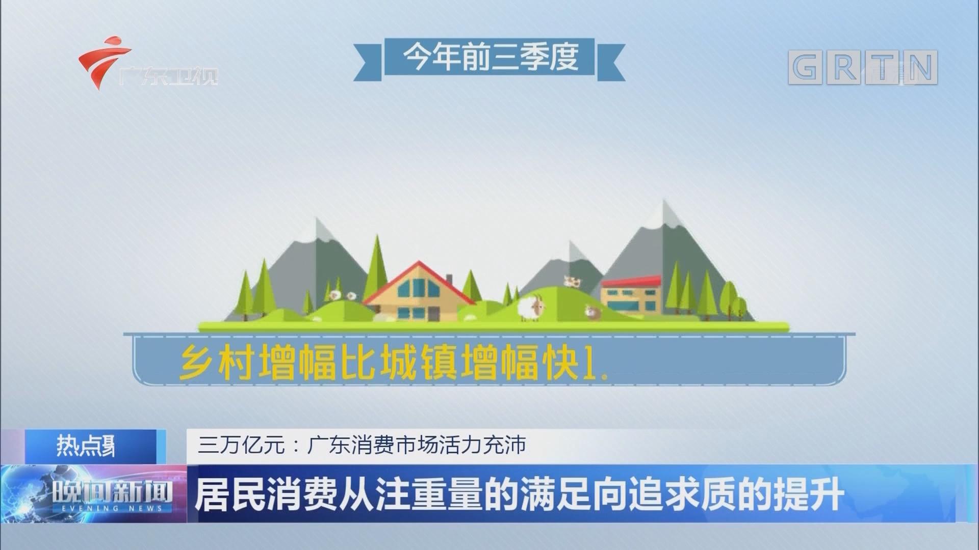 三万亿元:广东消费市场活力充沛 居民消费从注重量的满足向追求质的提升