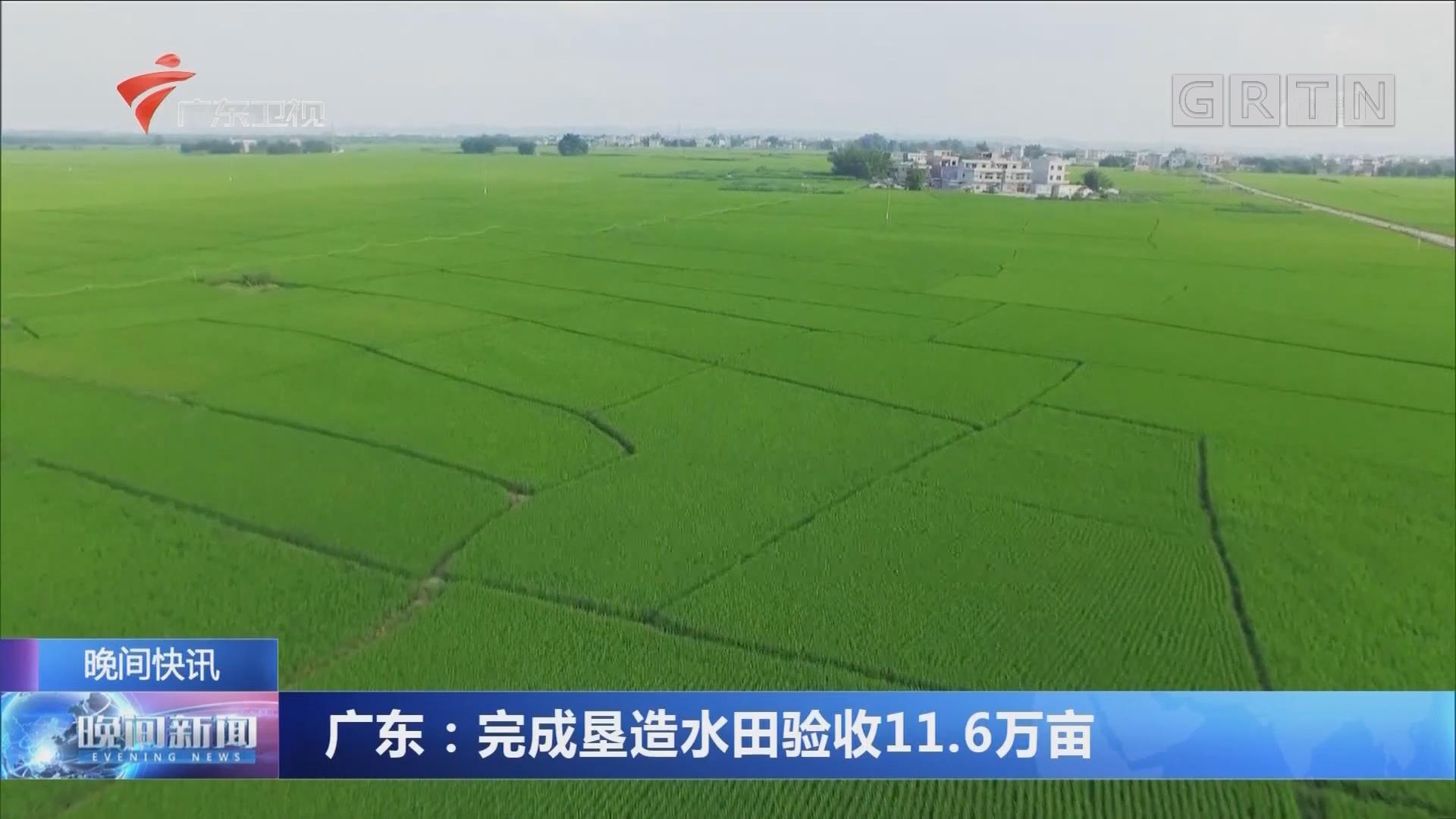 广东:完成垦造水田验收11.6万亩