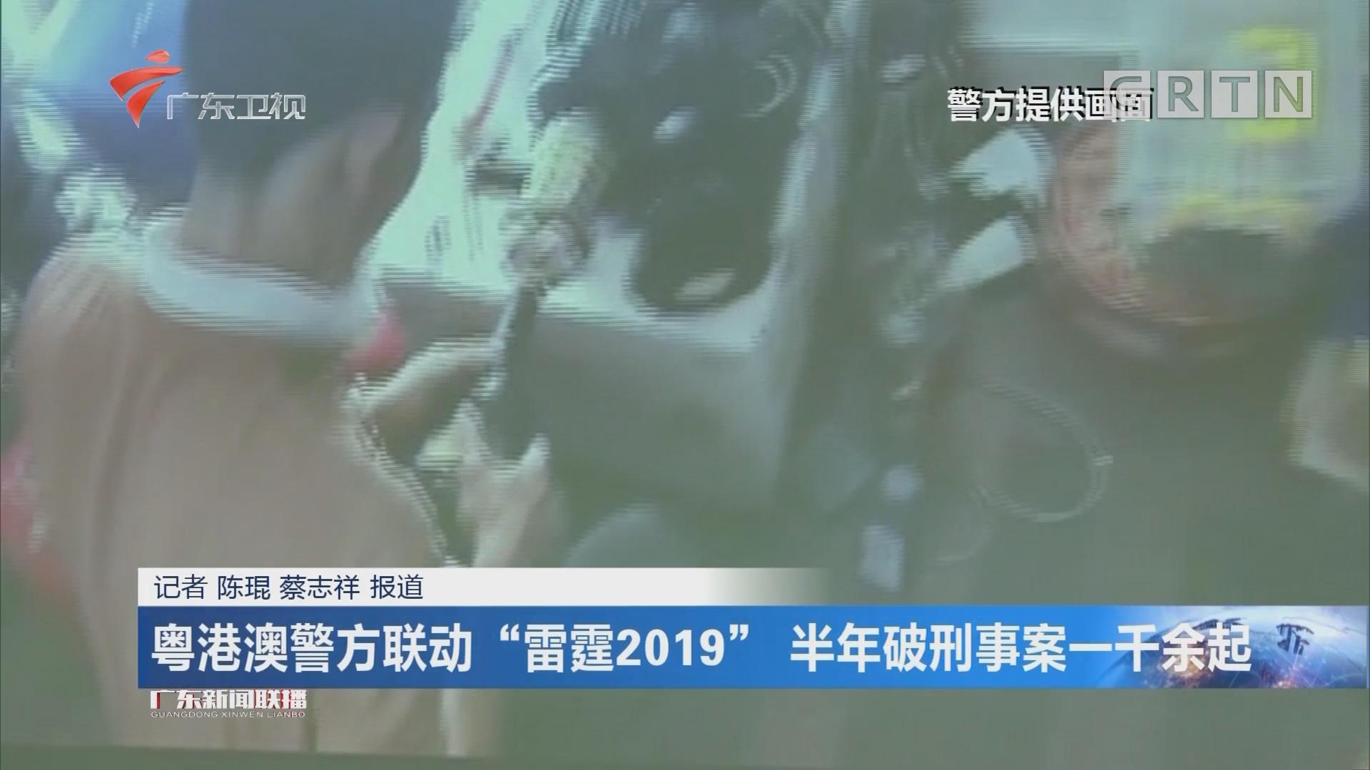 """粤港澳警方联动""""雷霆2019"""" 半年破刑事案一千余起"""