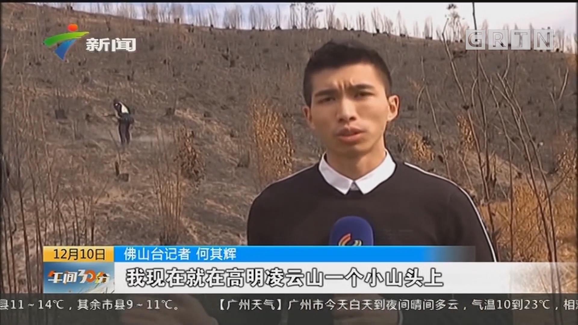 佛山:多方力量坚守救援第一线 防止山火复燃
