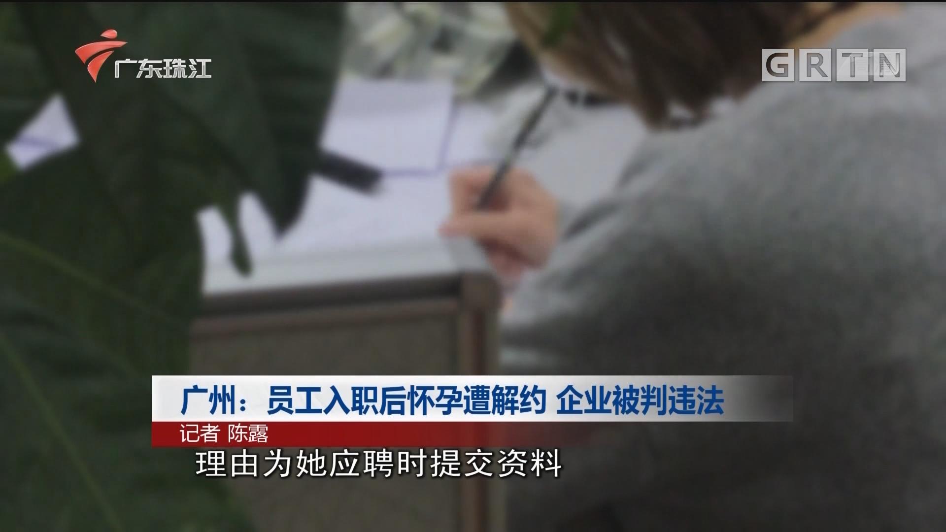 广州:员工入职后怀孕遭解约 企业被判违法