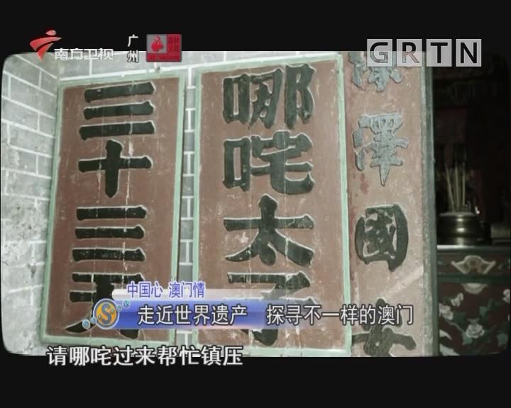 中國心 澳門情 走近世界遺產 探尋不一樣的澳門