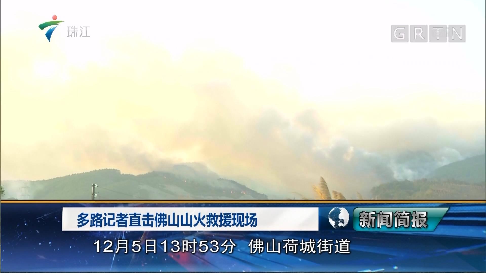 多路记者直击佛山山火救援现场