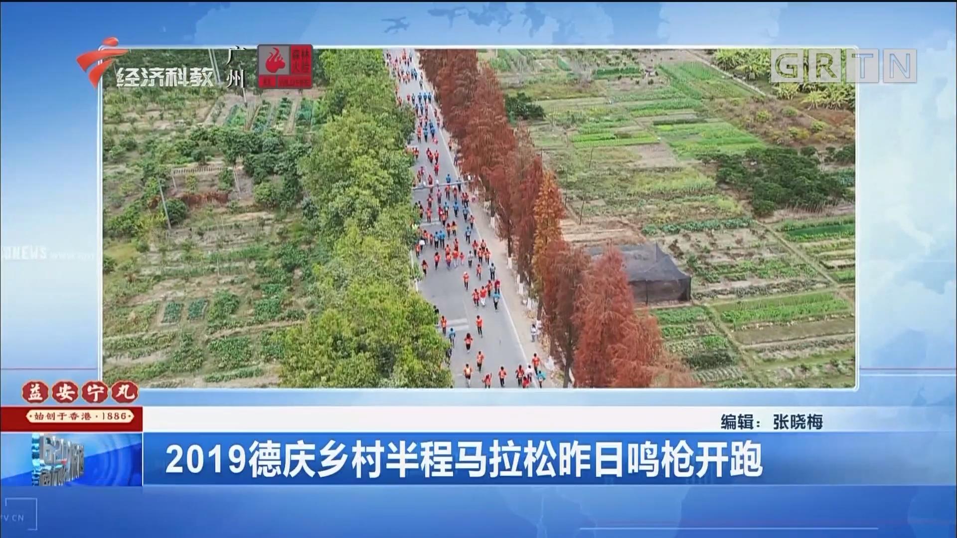 2019德慶鄉村半程馬拉松昨日鳴槍開跑