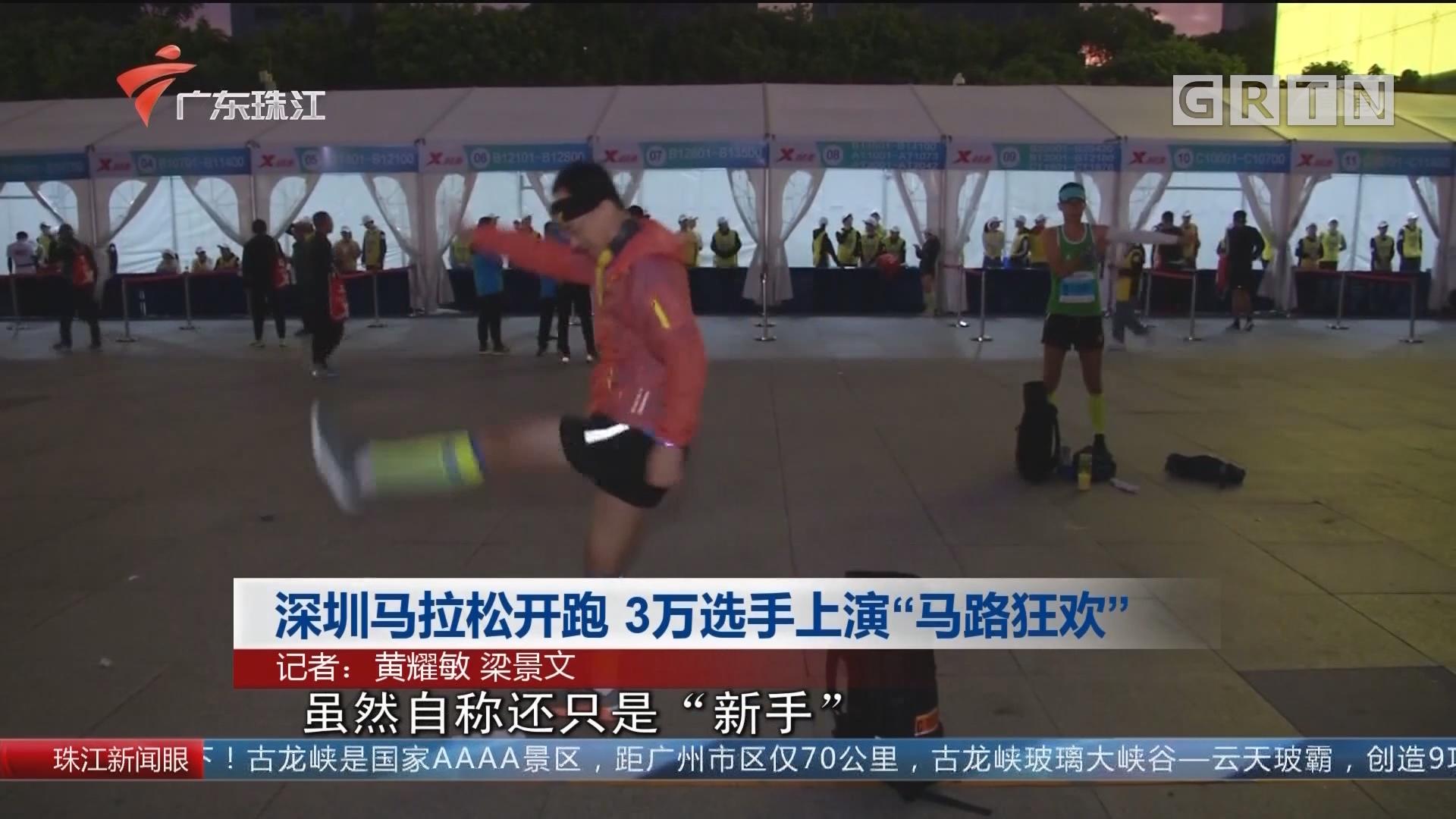 """深圳马拉松开跑 3万选手上演""""马路狂欢"""""""